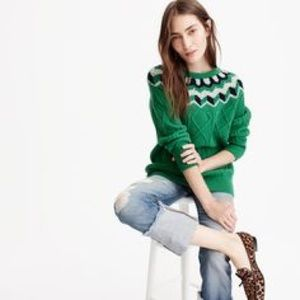 J. Crew Collection Wideneck Fair Isle Sweater